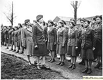 Maj.Charity E.Adams,...and Capt.Abbie N.Campbell,...inspect the first contingent of Negro membersofthe Women's Army Corps assigned to overseas service